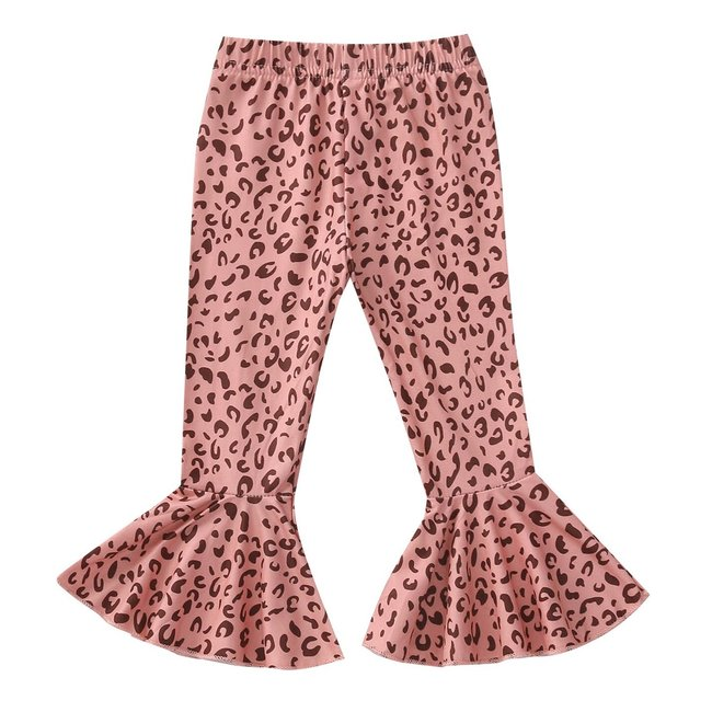 Flared Pants Pink Leopard