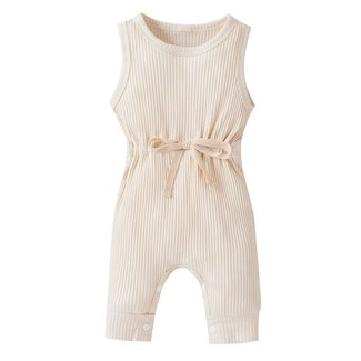 This Cuteness Jumpsuit Ribbed Beige