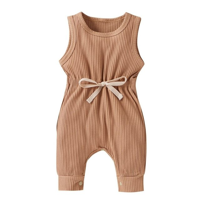 Jumpsuit Ribbed Taupe