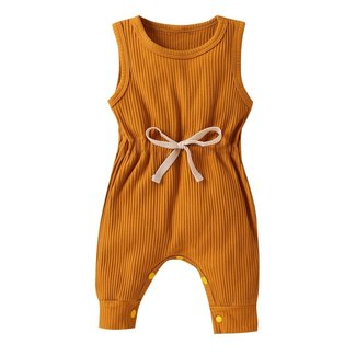 This Cuteness Jumpsuit Ribbed Ocher