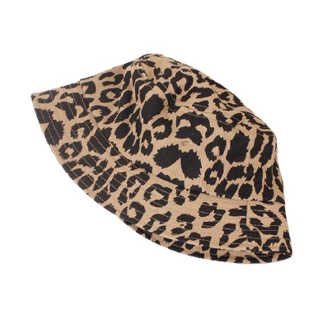 Zomer Hoed Beige Leopard