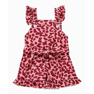 This Cuteness Jumpsuit Pink Leopard
