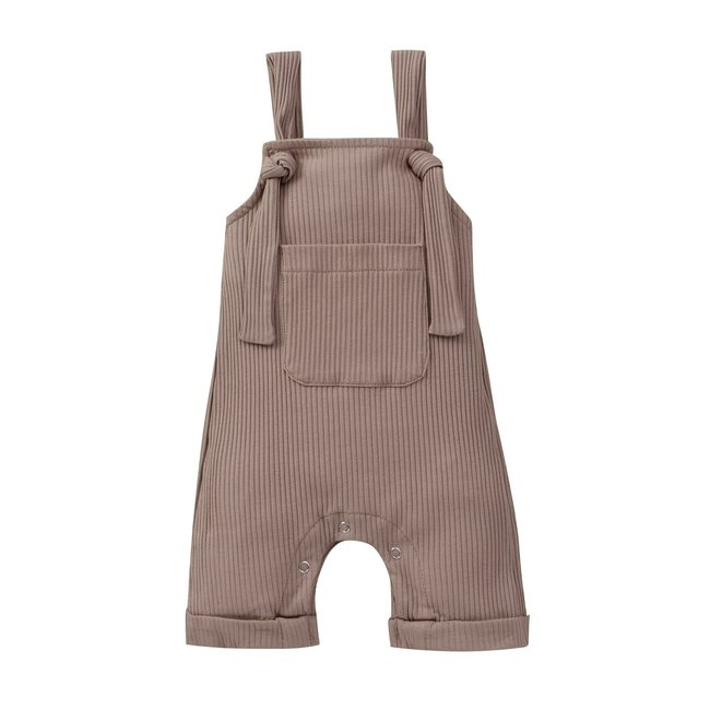 Jumpsuit Taupe Ribbed Knots