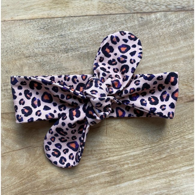 Baby Haarband Pink Leopard