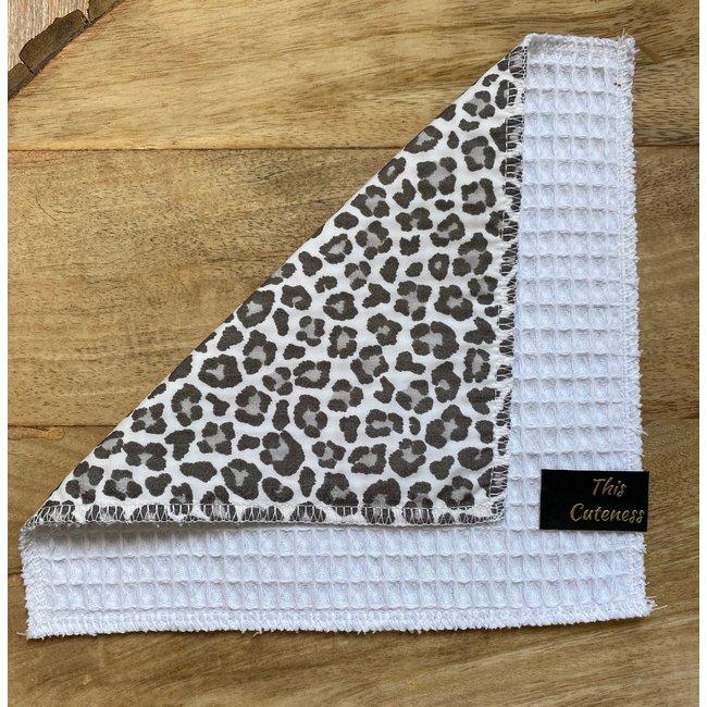 Knuffeldoekje White Leopard