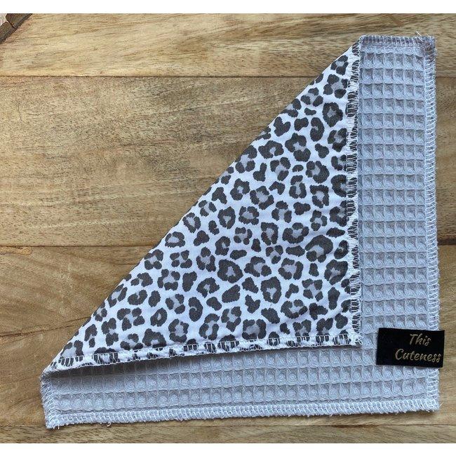 Knuffeldoekje Grey Leopard