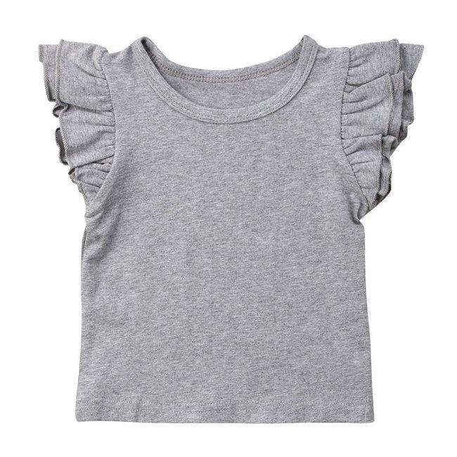 T-Shirt Ruffle Grey