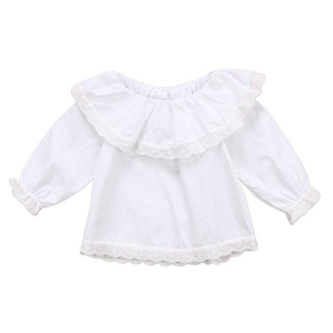 Shirt White Lace Collar