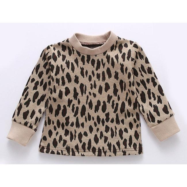 Sweater Beige Leopard