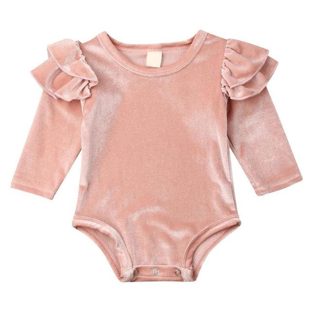 Body Velvet Ruffles Old Pink
