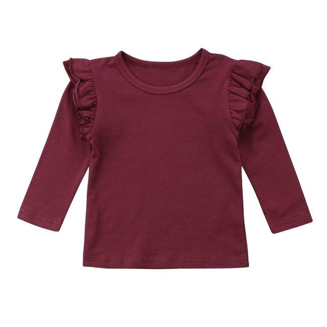 Shirt Longsleeve Ruffle Bordeaux