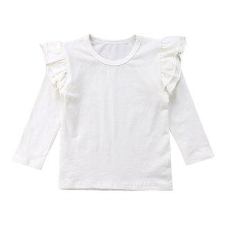 This Cuteness Shirt Longsleeve Ruffle White