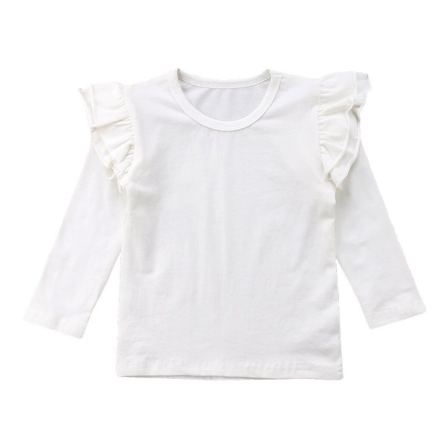 Shirt Longsleeve Ruffle White