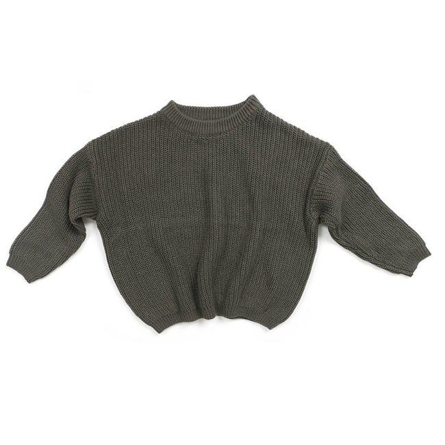 Oversized Sweater Bo Dark Grey