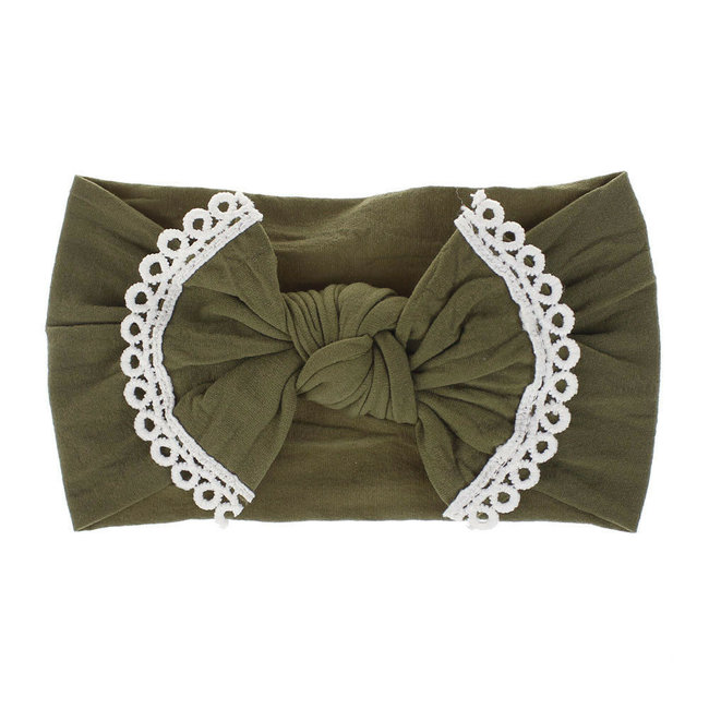 Haarband Green Lace