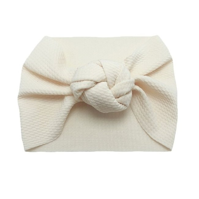 Haarband Knotted Beige