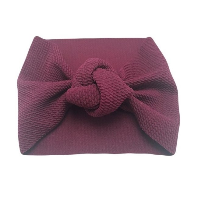 Haarband Knotted Bordeaux