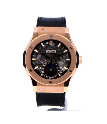 Hublot Horloge Classic Fusion 42mm Aerofusion Moonphase King Gold 517.OX.0180.LR