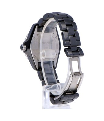 CHANEL Horloge J12 Black Diamond Indicators 33mm H1625OCC