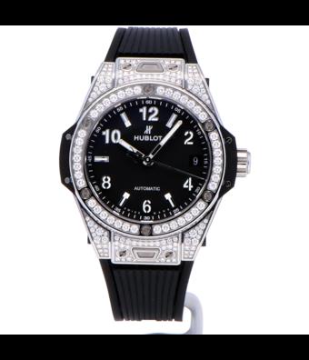 Hublot Horloge Big Bang 39mm One Click Steel Diamonds 465.SX.1170.RX.1604
