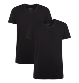 Bamboo Basics VELO 2-pack V-neck black