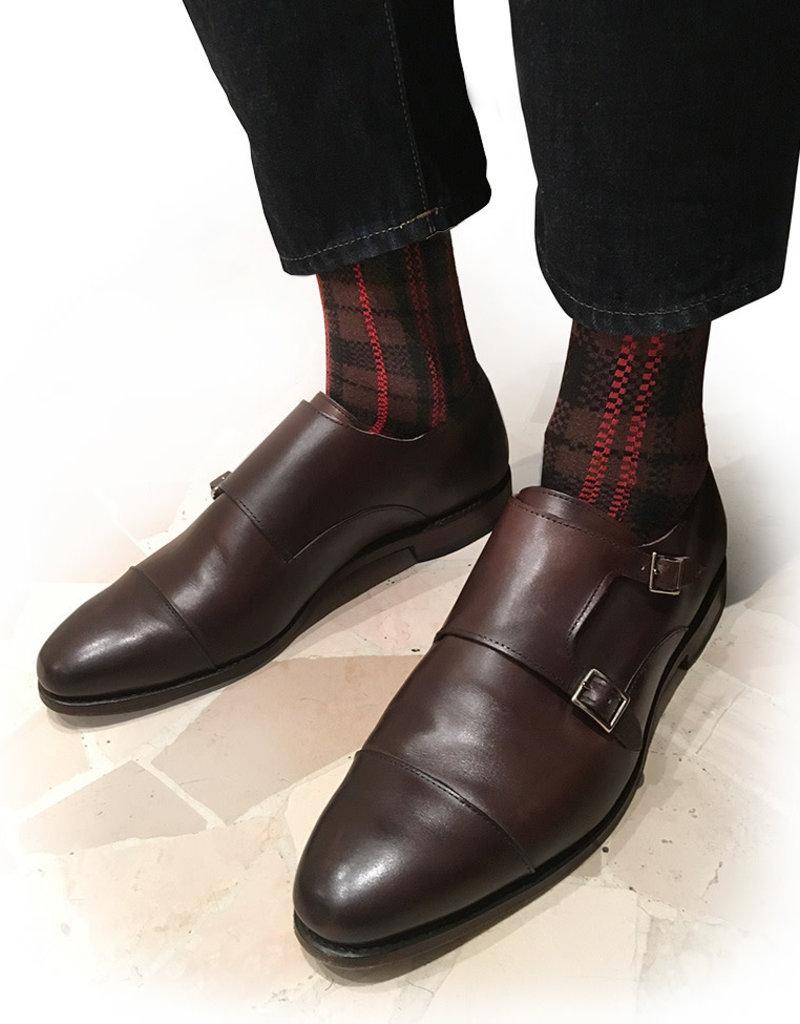 OYBO sock Border Brown