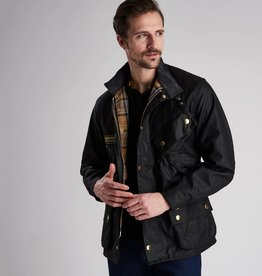 Barbour International Original wax motorcycle jacket black