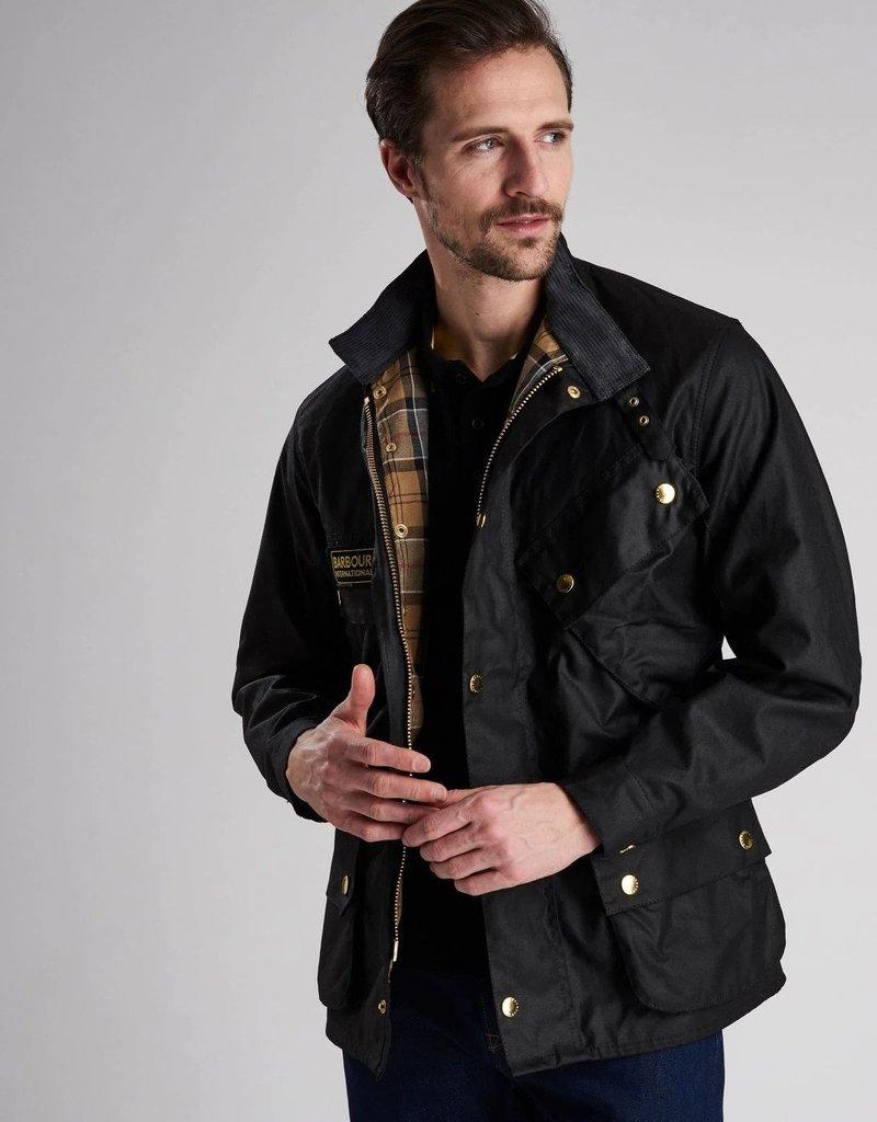 Barbour International Original wax motorcycle jacket black