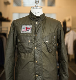 Barbour International Steve McQueen wax jacket olive