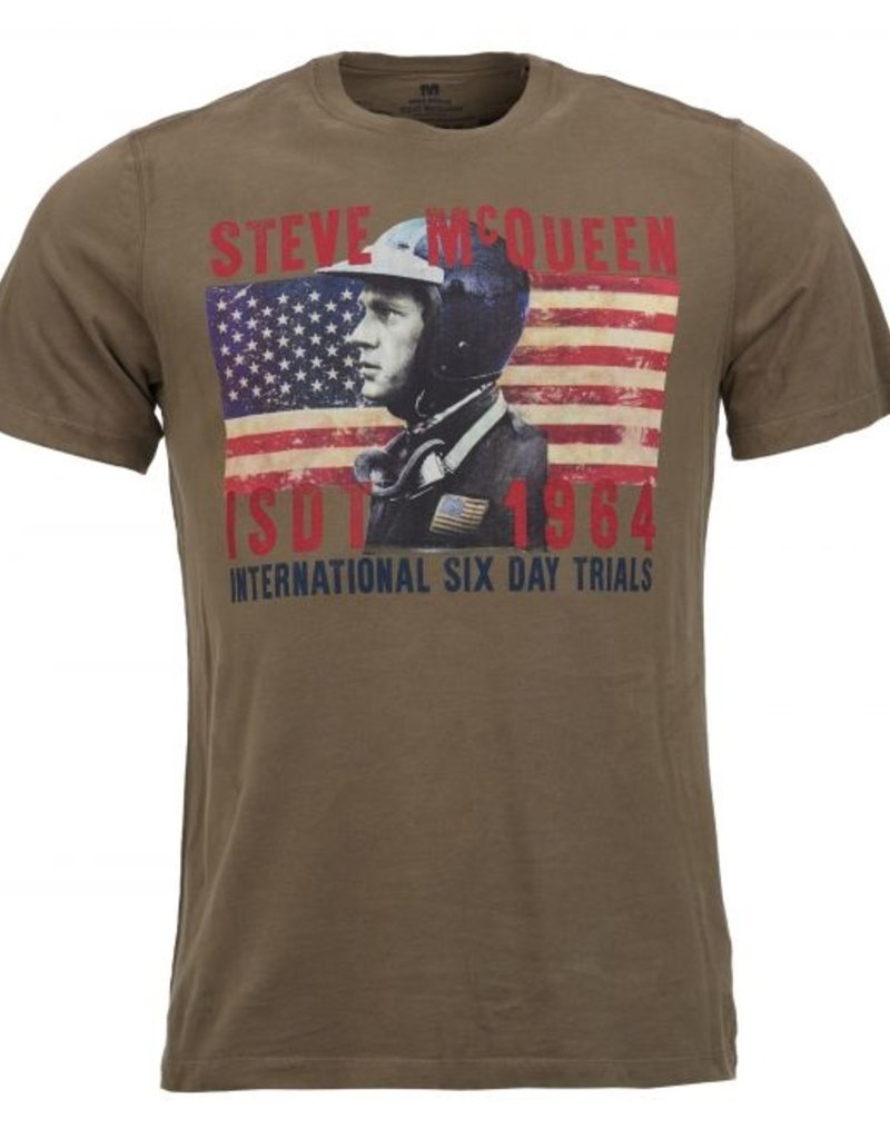 Barbour International Steve McQueen tee olive