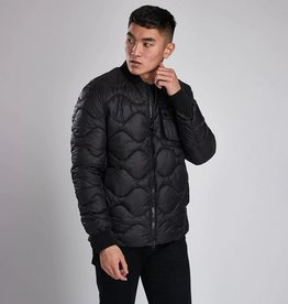 Barbour International Synon Quilt Black Bomberjacket