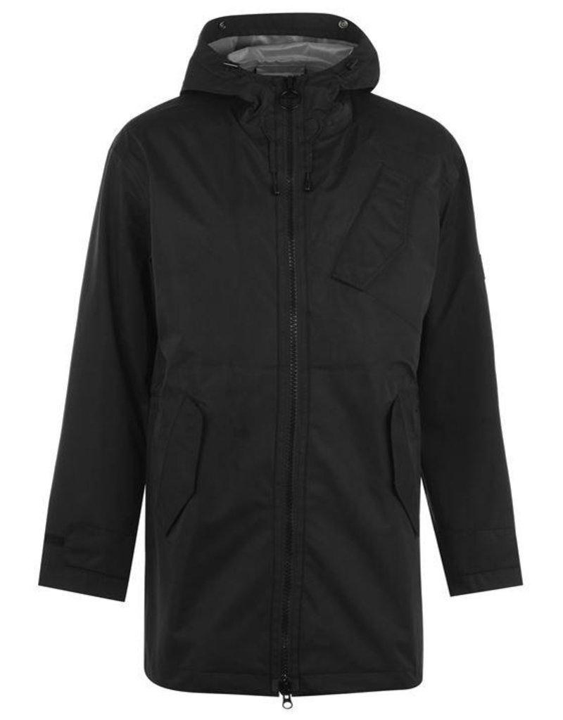 Barbour International Acoustics raincoat black