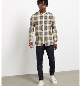 Barbour International Bill flannel ecru check shirt