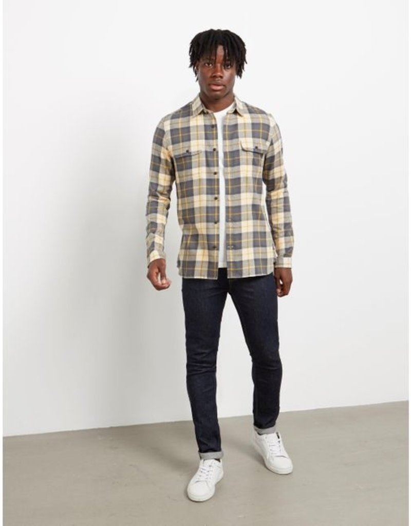 Barbour International Bill flannel ecru check shirt