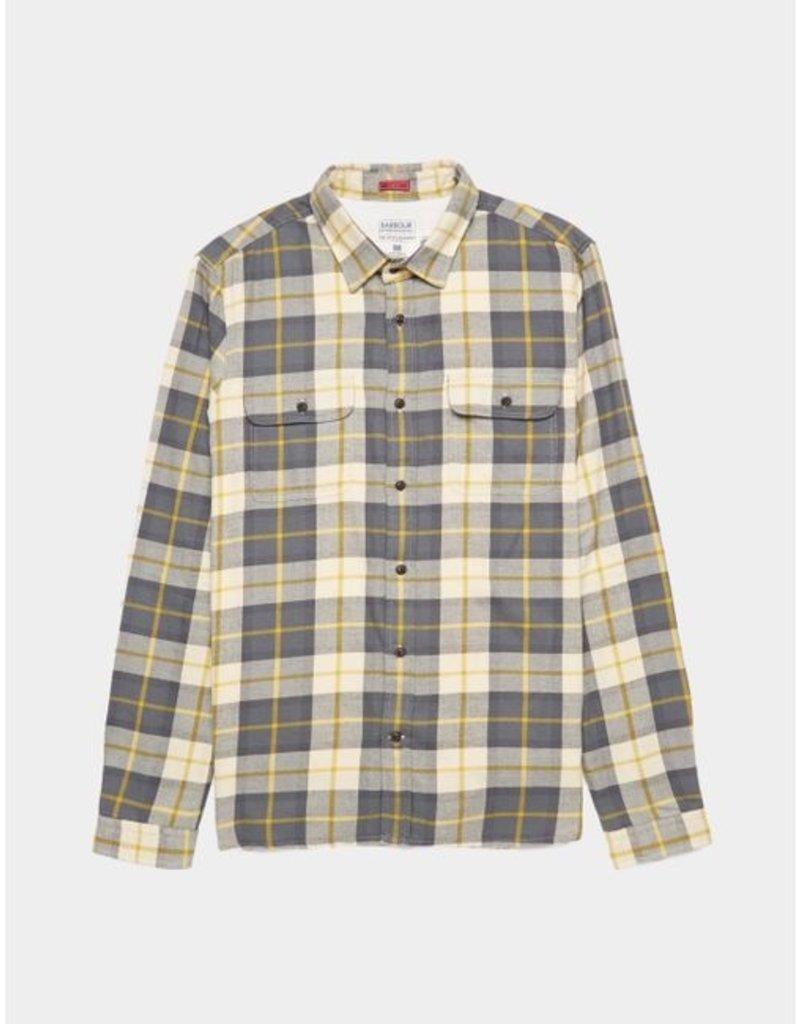 Barbour International Bill flannel ecru ruit shirt