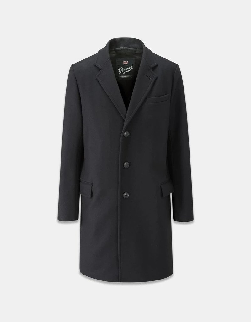 Gloverall Coat Chesterfield Black