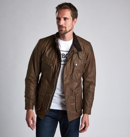 Barbour International Duke wax camel