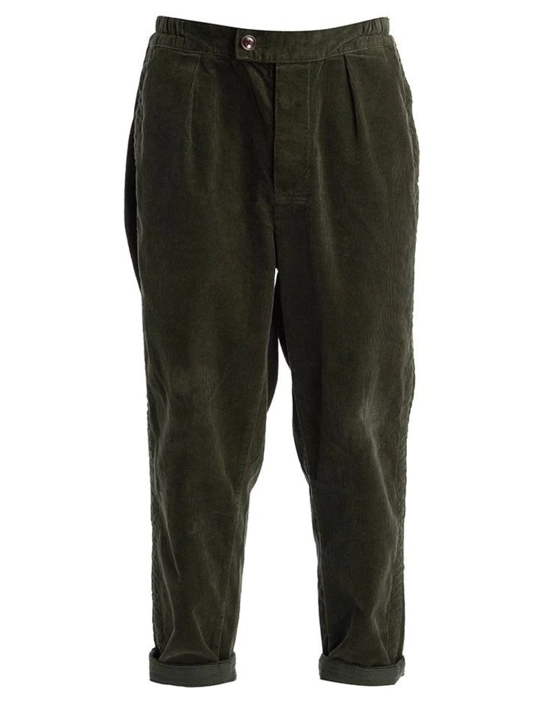 Barbour rugby pant cord groen