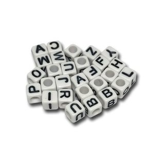 123Paracord Paracord Alphabet Perlen weiß