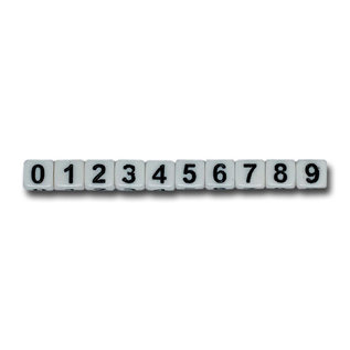 123Paracord Paracord Nummer Perlen weiß