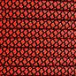 123Paracord 6MM PPM Seil Rot / Schwarz Diamond