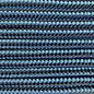 123Paracord Paracord 425 typ II dunkel Baby Blau Stripes