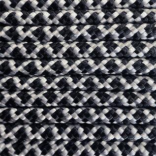 123Paracord Paracord 425 typ II Silber Grau / Schwarz diamond