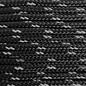 123Paracord Paracord 275 2MM Schwarz Reflektierend