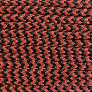 123Paracord Paracord 275 2MM Orange schwarz Shockwave