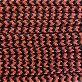 123Paracord Paracord 100 typ I Orange schwarz Shockwave