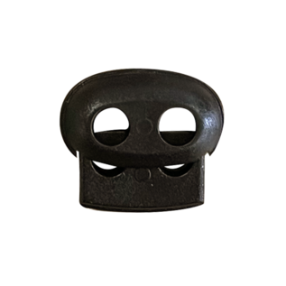 123Paracord Cord Lock stopper Schwarz groß