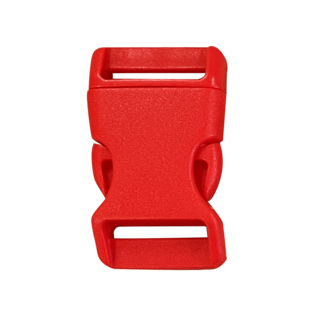 123Paracord Buckle 25MM Kunststoff Rot