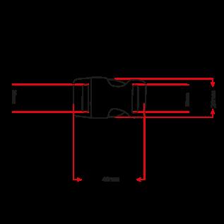 """123Paracord Alu-Max 20MM (3/4"""") buckle Schwarz Schnalle"""
