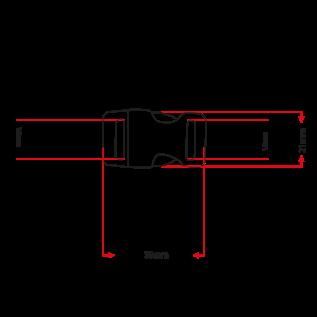 """123Paracord Alu-Max 15MM (5/8"""") buckle Schwarz Schnalle"""